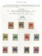 1924 /5.  ELEVEN  VALUES  OF  STAMPS  O / P  PORT  GDANSK - Usati