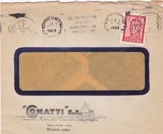 1963 COMMERCIAL COVER - COMATTI SA. CIRCULEE BUENOS AIRES. BANDELETA PARLANTE - BLEUP - Argentine