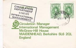 1973 CARD - COMATTI SA. CIRCULEE BUENOS AIRES TO ENGLAND. TIMBRE A PAIR - BLEUP - Argentine
