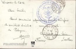 Aides Russes Blancs Armée Française En Pologne Après G14 1919 1920 Cachet Aigle Armée Polonaise Escadrille 162 Aviation - Marcofilia (sobres)