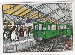 CPM - ILLUSTRATEUR - Pierre GAUTHIE - Métro Station GLACIERE Direction Etoile Polaire ( Pingouins) - Illustrators & Photographers