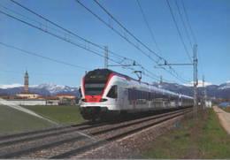 481 RABe 524.016 Stadler Levate Bergamo Rairoad Treain Railweys Treni - Trains
