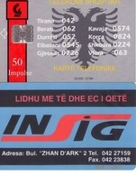 TARJETA TELEFONICA DE ALBANIA. 07.96 - TIRADA 20000  (058) - Albania