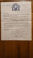 RARE DOCUMENT DE 3 PAGES LES COMEDIENS LIBRES ANCIENS PRISONNIERS DE GUERRE SPECTACLE DE 1947 EN 3 ACTES - 1939-45