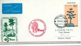 1981 , TAILANDIA , PRIMER VUELO / FIRST FLIGHT - BANGKOK - DELHI - Tailandia
