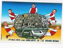 CPM - ILLUSTRATEUR - Pierre GAUTHIE - LE GRAND REIMS ( Stade De Reims) - Illustrators & Photographers
