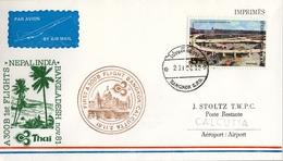1981 , TAILANDIA , PRIMER VUELO / FIRST FLIGHT - BANGKOK - CALCUTTA - Tailandia