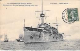 """Cuirassé """" ERNEST RENAN """" Sables D'Olonne  : Semaine Maritime 08/1910 - BATEAU DE GUERRE ( France ) Warship Kriegsschiff - Warships"""