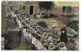 Genre Carte-photo , Bon Etat , Agriculture , Repas De Moisson , Carte Rare ,  Timbre Courrier Au Verso - Unclassified