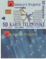 TARJETA TELEFONICA DE ALBANIA. 12.96 (062) - Albanië