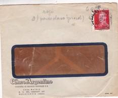 1953 COMMERCIAL COVER - CESAR FERRERO Y CIA SRL. CIRCULEE BUENOS AIRES. BANDELETA PARLANTE - BLEUP - Argentine