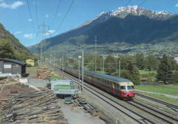 "490 RAe 1053 TEE ""Gottardo"" Località Gamsen, Canton Vallese, Svizzera Rairoad Treain Railweys Treni - Trains"