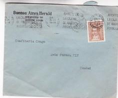 1944 COMMERCIAL COVER - BUENOS AIRES HERALD. CIRCULEE BUENOS AIRES. BANDELETA PARLANTE - BLEUP - Argentine