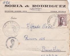 1950 COMMERCIAL COVER - SORIA & RODRIGUEZ. CIRCULEE CORDOBA TO BUENOS AIRES. BANDELETA PARLANTE - BLEUP - Argentine