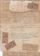GENDARMERIE NATIONALE,GROUPE DE CHARLEROI,BELGIQUE.MEMOIRE DE DEBOURS,1945. - Historical Documents