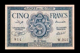 # # # Banknote Algerien (Algeria) 5 Francs 1942 AU # # # - Algeria