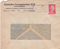 1953 COMMERCIAL COVER - COMPAÑIA SUDAMERICANA BTB. CIRCULEE MISIONES. BANDELETA PARLANTE - BLEUP - Argentine
