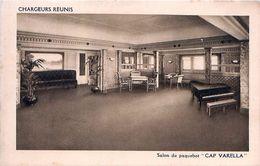 Cpa CHARGEURS REUNIS -Salon Du Paquebot CAP VARELLA - Steamers