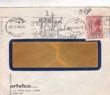1961 COMMERCIAL COVER - ARTELCO. CIRCULEE BUENOS AIRES. BANDELETA PARLANTE - BLEUP - Argentine