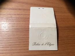 Pochette D'allumettes «Palais De L'Elysée» (Paris - Etat Français) Type 4 - Matchboxes