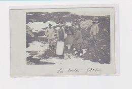 LES EVETTES REFUGE GLACIER CAF De LYON 1907 Construction Inauguration Transport Des Toilettes? Carte Photo - Autres Communes