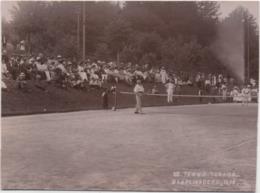 Fotografia Cm. 9,1 X 12,4 Con Giocatori Di Tennis. Bad Flingsberg (Swieradow Zdroj, Polonia) 1908 - Sport