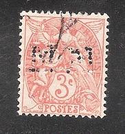 Perforé/perfin/lochung France No 109 MM Messageries Maritimes - Perforés