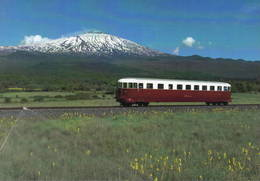 499 FCE - Ferrovia Circumetnea ALn 56.06 Fiat Localitò Calanna, Catania Sicilia Vulcano Etna Railroad Train Railways - Trenes