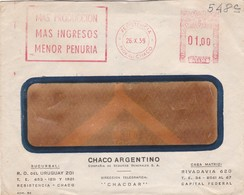 1959 COMMERCIAL COVER - CHACO ARGENTINO. CIRCULEE RESISTENCIA. FRANKING MECHANIC - BLEUP - Argentinië