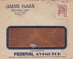 1944 COMMERCIAL COVER - JAIME GAZA. CIRCULEE BUENOS AIRES, BANDELETA PARLANTE - BLEUP - Argentine