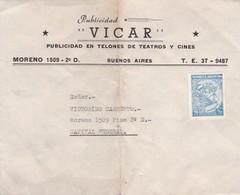 1950'S COMMERCIAL COVER - PUBLICIDAD VICAR. ARGENTINA - BLEUP - Argentine
