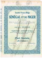 Titre Ancien - Société Franco-Belge Du Sénégal Et Du Niger - Société Anonyme -Titre De 1926 - Afrique