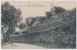 Cpa Corse Olmeto Ruines Du Couvent Sur La Grande Route D'Ajaccio - France