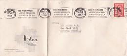 1967 COMMERCIAL COVER - HIRLON SA. CIRCULEE BUENOS AIRES. BANDELETA PARLANTE - BLEUP - Lettres & Documents