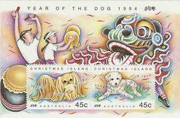 Christmas Island SG 388 1994 Year Of The Dog Mini Sheet MNH - Christmas Island