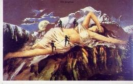 Die Jungfrau - Giovene Donna - Una Delle Montagne Svizzere Più Difficili - Svizzera 1905 - Riproduzione Da Originale - Cartoline