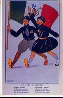 Fiamme Nere - G.b.falchi Di Milano - Italia 1922 - Riproduzione Da Originale - Cartoline