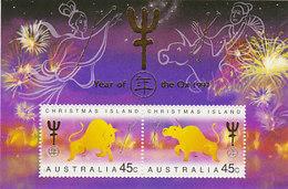 Christmas Island SG 436 1997 Year Of The Ox Mini Sheet MNH - Christmas Island