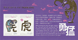 Christmas Island SG 675 MS 2010 Year Of The Tiger Souvenir Sheet MNH - Christmas Island