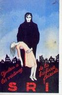 Sri - Aiutamo Le Vittime Della Barbarie Fasciste - Spagna 1938 - Riproduzione Da Originale - Cartoline
