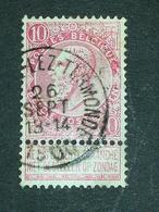 COB N ° 58 Oblitération St Gilles Lez Termonde - 1893-1900 Fine Barbe