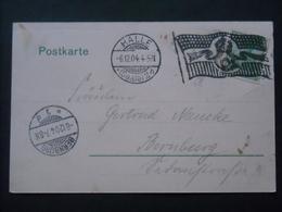 DR - AK Halle  Gelaufen Mit Flaggenstempel Von Halle Nach Bernburg (453) - Briefe U. Dokumente