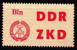 DDR DIENST LKZ Nr 1 Postfrisch S666DF2 - DDR