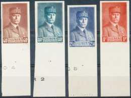 [70355]TB//*/Mh-c:185e-N° 470/73 - ND/Imperf - Maréchal Pétain, Série Complète Avec Grands Bords De Feuilles Et N°, RARE - 1941-42 Pétain