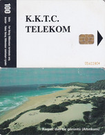 "NORTH CYPRUS(chip) - Karpaz""Dan Bir Goruntu(Altinkum)(100 Units), Chip SC9, Used - Cyprus"