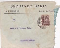 1949 COMMERCIAL COVER: BERNARDO BARJA. CIRCULEE URUGUAY - BLEUP - Uruguay