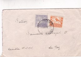 1943 COVER CIRCULEE BOLIVIA, COCHABAMBA TO LA PAZ - BLEUP - Bolivie