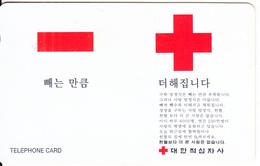SOUTH KOREA - Red Cross(reverse Letters KCT), Korea Telecom Telecard(W2000), Used - Korea (Zuid)