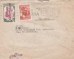 1955 COVER CIRCULEE ECUADOR VIA AEREA TO ARGENTINE. BANDELETA PARLANTE, SURCHARGE BLACK - BLEUP - Ecuador