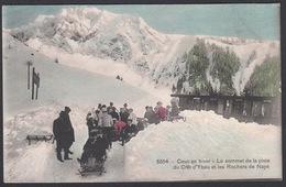 CPA  Suisse, CAUX En Hiver, Le Sommet De La Piste Du Cret D'Ybau Et Les Rochers De Naye - 1910 - VD Vaud
